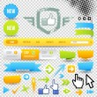 Web Template Icon and Arrows - Stock Vector