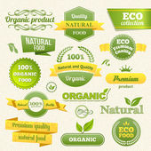 Vector Eco Stamps, Banners and Labels — Vettoriale Stock