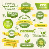 Vector eco sellos, carteles y etiquetas — Vector de stock