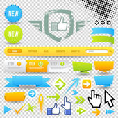 εικονίδιο προτύπου web και βέλη — Stockvektor