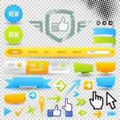 Pictogram voor web-sjabloon en pijlen — Stockvector