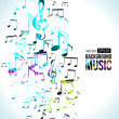 Stock Vector: Vector Music Background Note Design