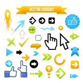 Collection of Vector Arrows. Web design illustration — Stock Vector