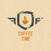 Coffee time label — Stock Vector