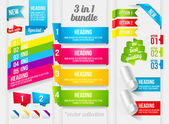Ribbon and banner collection — Vettoriale Stock