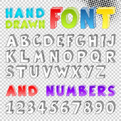 Hand drawn sketch font — Stock Vector