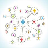 Sociala nätverk — Stockvektor