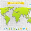 Vector Map Template - Imagen vectorial