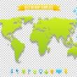 Vector Map Template — Stock Vector