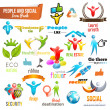 Social Community 3d icon and Symbol Pack — Imagen vectorial