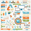 Infographic Elements and Communication Concept — Stock Vector