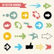 Collection of Vector Arrows — Vector de stock #35797113