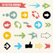 Collection of Vector Arrows — Vector de stock