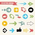 coleção de setas de vetor — Vetorial Stock
