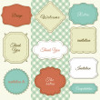 Vintage Frames on Shabby Chic background — Stock Vector #35797195