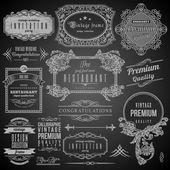 Elementos de design retro caligráfico — Vetor de Stock