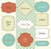 Vintage Frames on Shabby Chic background — Stock Vector