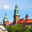 Krakow, Poland - famous Wawel Cathedral - Stock Photo