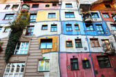 Buildingblock in many colours, Vienna, Austria — Stock Photo