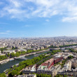 Aerial view of Paris architecture from the Eiffel tower. — Stock Photo #13818691