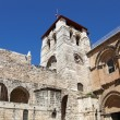 church of the holy sepulchre on the via dolorosa in jerusalem — Stock Photo