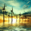 Eco power, wind turbines — Stock Photo
