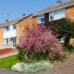 Typical english residential estate — Stock Photo