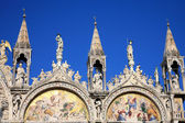 Saint Marks Basilica, Cathedral, Church Statues Mosaics Details — Stock Photo