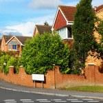 Town Houses On An English Street — Stock Photo