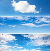 Sky backgrounds set — Stock Photo