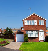 English house with garage — Stock Photo
