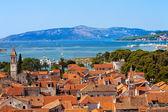 Touristique trogir vieille ville croatie. — Photo