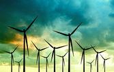Větrná energie — Stock fotografie