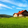 New house in the mountains  — Stockfoto