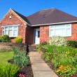 Stock Photo: Typical english house with a garden