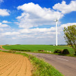 Windturbine in english countryside — Stock Photo