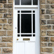 White Front Door of an Old English House — Stock Photo