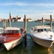 Water taxi on the Grand canal in Venice — Stockfoto #3124340