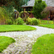 Pathway in the garden — Stock Photo