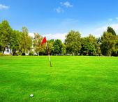 Landscape of a beautiful green golf course — Foto de Stock