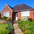 Red Brick English Town House  — Stock Photo