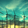 Wind turbines, eco energy — Stock Photo #34539237