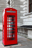 Classic red British telephone box in London — Stock Photo