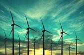 Wind turbines, eco energy — Stock Photo