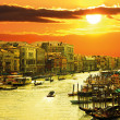 Famous grand canale from Rialto Bridge, Venice — Stock Photo