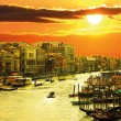 Stock Photo: Famous grand canale from Rialto Bridge, Venice