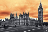 The Big Ben, the Houses of Parliament, London — Stock Photo