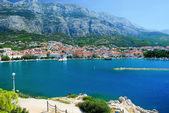Panorama of Makarska and Adriatic sea,Croatia — Stock fotografie
