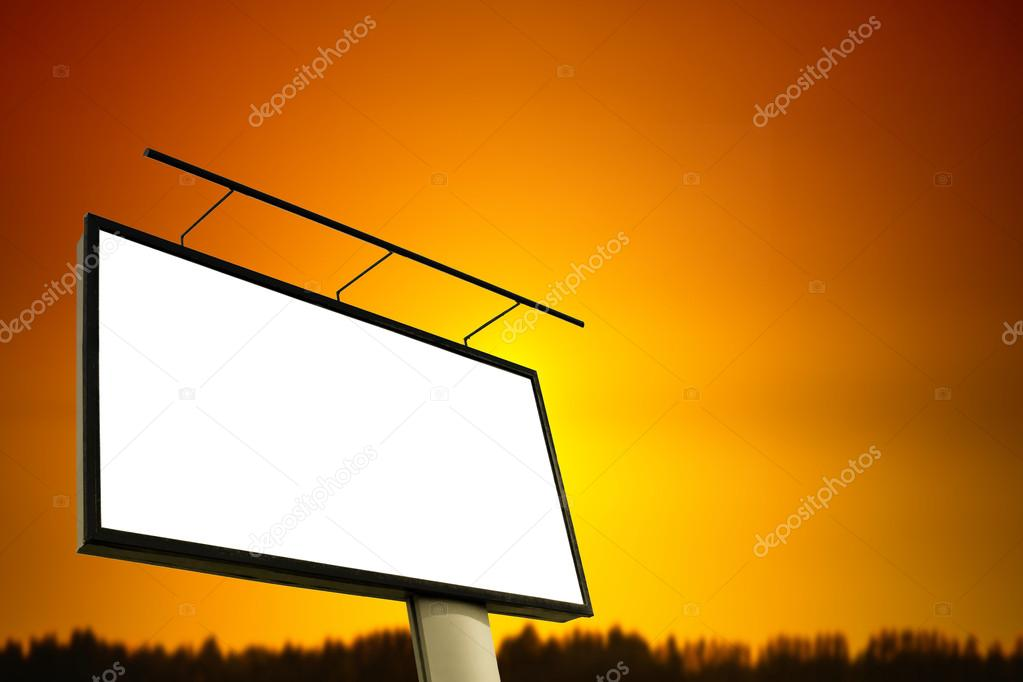 Commercial blank billboard — Stock Photo #12102369