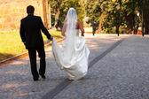 Autumn wedding — Stock Photo